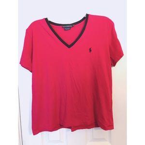 Ralph Lauren Sports Pink Cotton Tee Sz XL